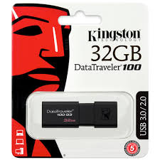 Pen Drive KINGSTON 32GB 3.0 Data Traveler DT100G3